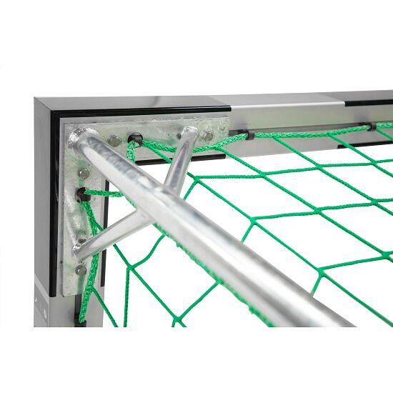 But de hand en salle Sport-Thieme® 3x2 m, avec fourreaux Avec supports de filet autostables, Noir-argent