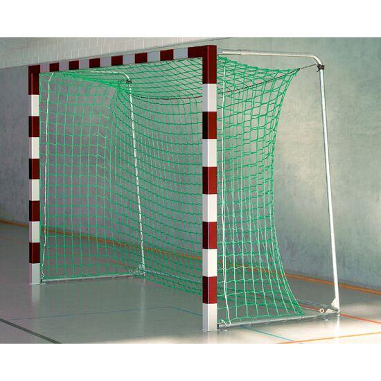 But de hand en salle Sport-Thieme® 3x2 m, avec fourreaux Avec supports de filet rabattables, Rouge-argent