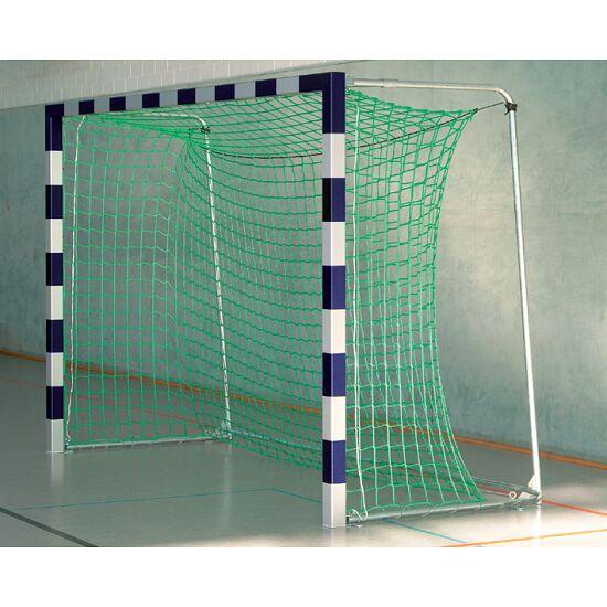 But de hand en salle Sport-Thieme® 3x2 m, avec fourreaux Avec supports de filet rabattables, Bleu-argent