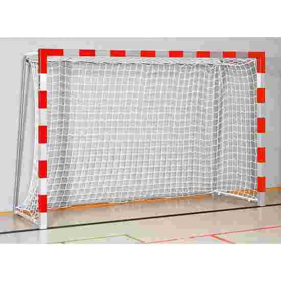 But de handball en salle Sport-Thieme 3x2 m, avec fourreaux Angles d'assemblage vissés, Rouge-argent