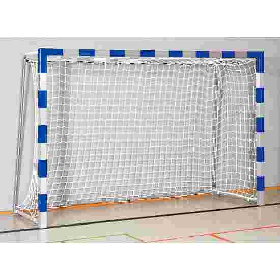 But de handball en salle Sport-Thieme 3x2 m, avec fourreaux Angles d'assemblage vissés, Bleu-argent