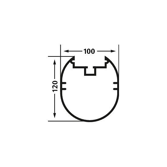 But junior Sport-Thieme But junior 5x2 m, entièrement soudé, avec cadre au sol 120x100 mm de profilé ovale