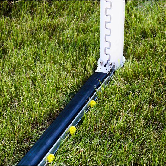 Cadre au sol rabattable avec PlayersProtect pour buts de foot classiques Profondeur du but 1,5 m