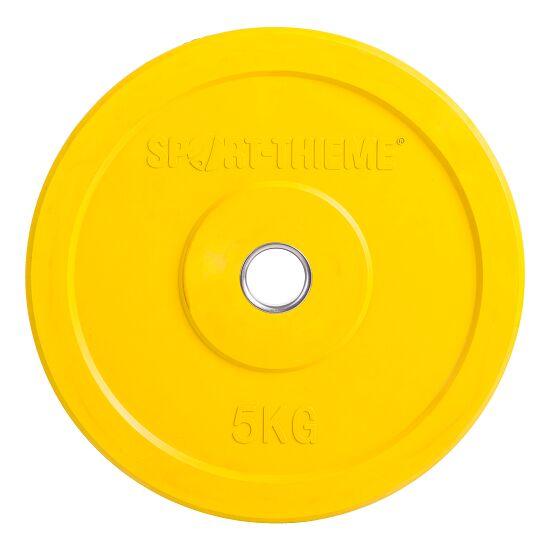 Disque en caoutchouc pour halt/ère Jaune 1 kg