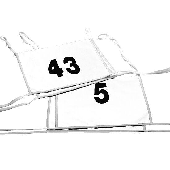Double dossard Numéros à 1 ou 2 chiffres, blanc