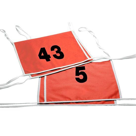 Double dossard Numéros à 1 ou 2 chiffres, rouge