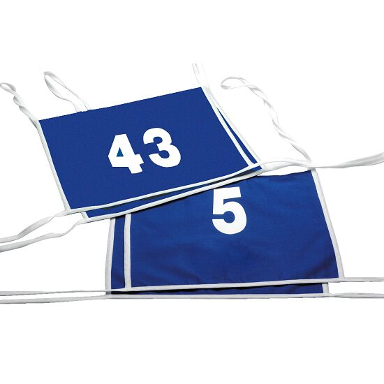 Double dossard Numéros à 1 ou 2 chiffres, bleu