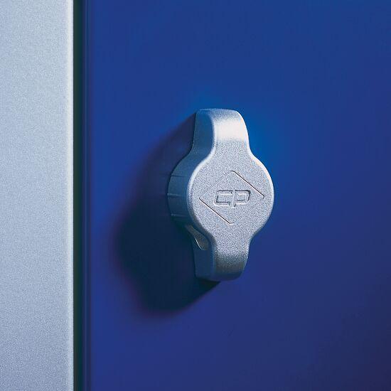 """Dubbele garderobekast """"S 2000 Classic"""" met 100 mm hoge sokkel 180x61x50 cm/ 4 vakken, 30 cm"""