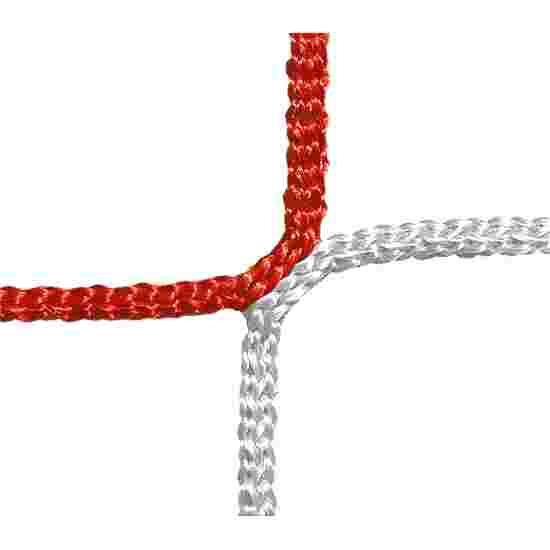 Filet de protection et d'arrêt, mailles 12 cm Rouge-Blanc, ø 4,00 mm