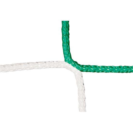 Filet sans nœud à motif échiquier pour but de football adulte Vert-blanc