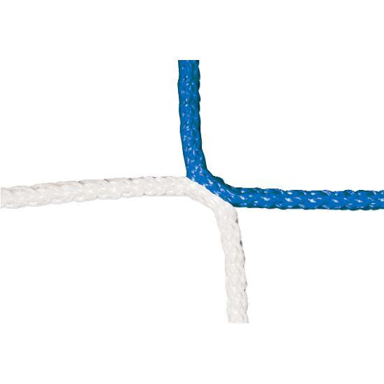 Filet sans nœud à motif échiquier pour but de football adulte Bleu-blanc