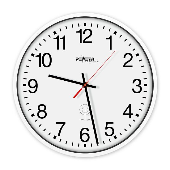 Horloge murale radio pilotée Peweta® Cadran avec chiffres arabes