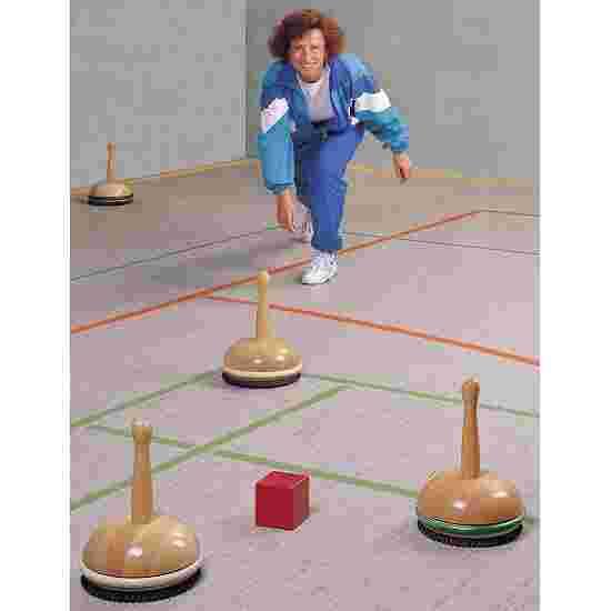Jeu de bosseln/curling en salle