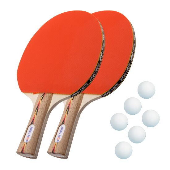Kit de raquettes de tennis de table Sport-Thieme® « Berlin » Balles blanches