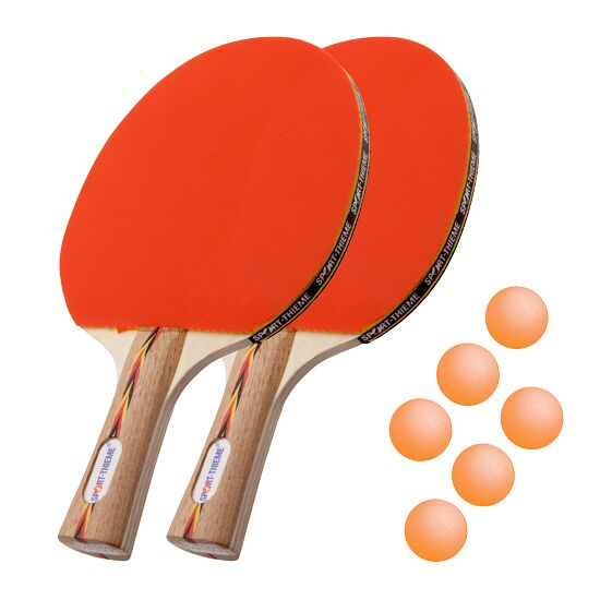 Kit de raquettes de tennis de table Sport-Thieme® « Berlin » Balles orange
