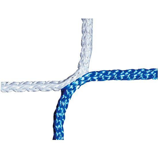 Knopenloos Herenvoetbaldoelnet 750x250 cm Blauw-wit