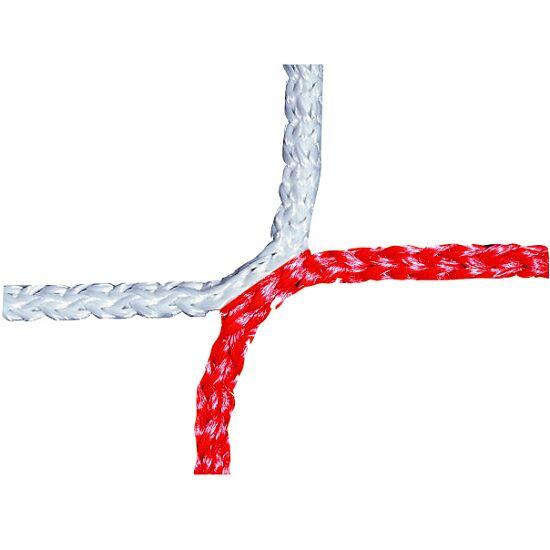 Knopenloos Herenvoetbaldoelnet 750x250 cm Rood-wit