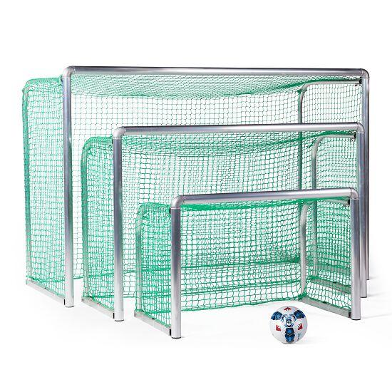 Mini but d'entraînement en alu Sport-Thieme® « Safety » 1,20x0,80 m, profondeur 0,70 m, Filet inclus, vert (mailles 4,5 cm)