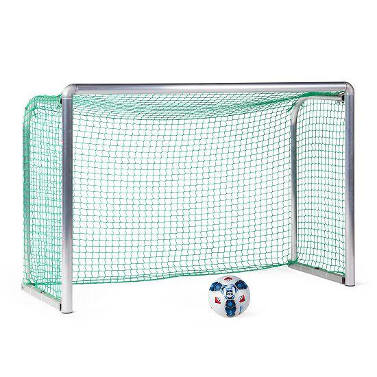 Mini but d'entraînement en alu Sport-Thieme® « Safety » 1,80x1,20 m, profondeur 0,70 m, Filet inclus, vert (mailles 4,5 cm)