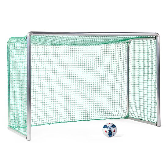 Mini but d'entraînement en alu Sport-Thieme® « Safety » 2,40x1,60 m, profondeur 1,00 m, Filet inclus, vert (mailles 4,5 cm)