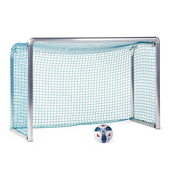 Mini but d'entraînement en alu Sport-Thieme® « Safety » 1,80x1,20 m, profondeur 0,70 m, Filet inclus, bleu (mailles 4,5 cm)