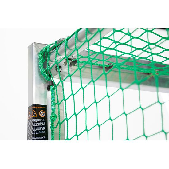 Mini but Sport-Thieme®, avec supports de filet rabattables 1,20x0,80 m, profondeur 0,70 m, Filet inclus, vert (mailles 10 cm)