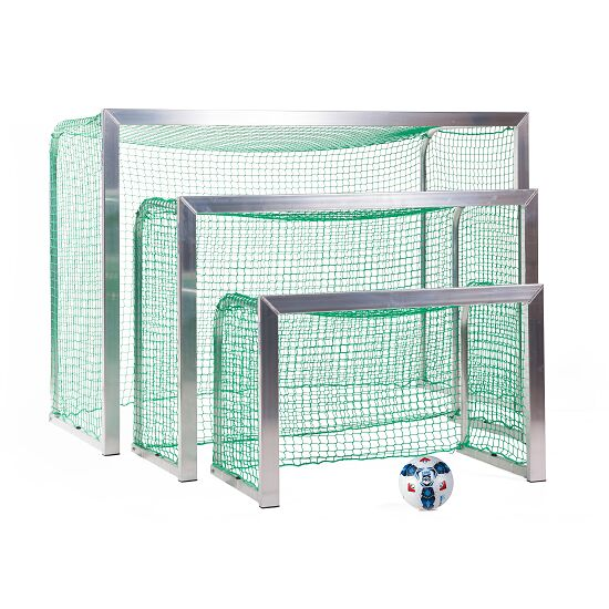 Mini but Sport-Thieme®, avec supports de filet rabattables 1,20x0,80 m, profondeur 0,70 m, Filet inclus, vert (mailles 4,5 cm)