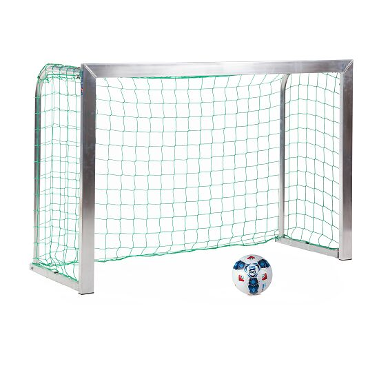 Mini but Sport-Thieme®, avec supports de filet rabattables 1,80x1,20 m, profondeur 0,70 m, Filet inclus, vert (mailles 10 cm)