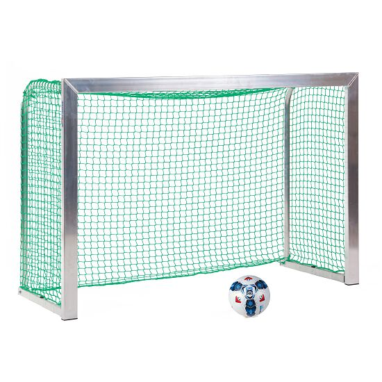 Mini but Sport-Thieme®, avec supports de filet rabattables 1,80x1,20 m, profondeur 0,70 m, Filet inclus, vert (mailles 4,5 cm)