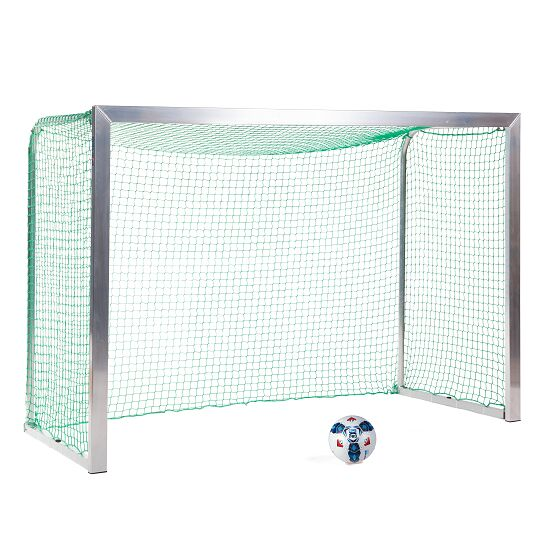 Mini but Sport-Thieme®, avec supports de filet rabattables 2,40x1,60 m, profondeur 1,00 m, Filet inclus, vert (mailles 4,5 cm)