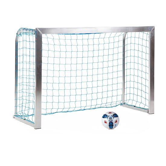 Mini but Sport-Thieme®, avec supports de filet rabattables 1,80x1,20 m, profondeur 0,70 m, Filet inclus, bleu (mailles 10 cm)