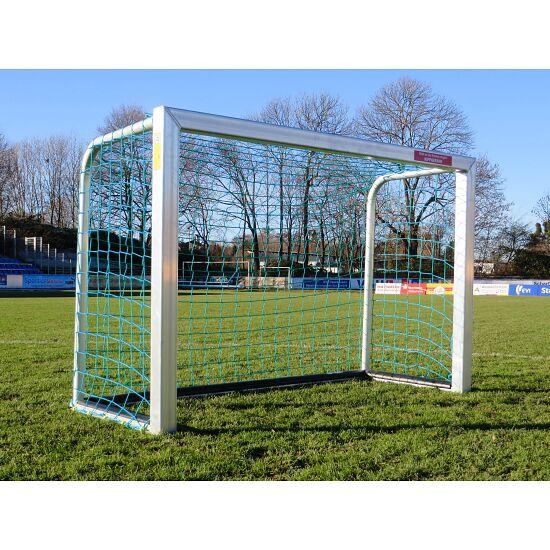 Mini-doel, volledig gelast met PlayersProtect 1,20x0,80 m, Incl. net, blauw (mw 10 cm)