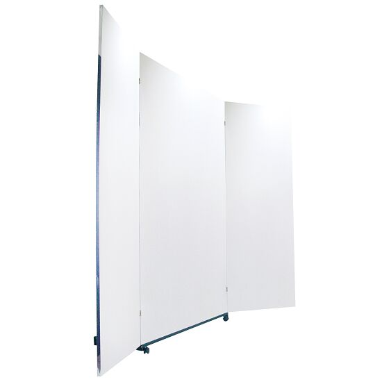 Miroir de correction léger roulant 3 pièces, 200x150/74/74 cm (HxL)