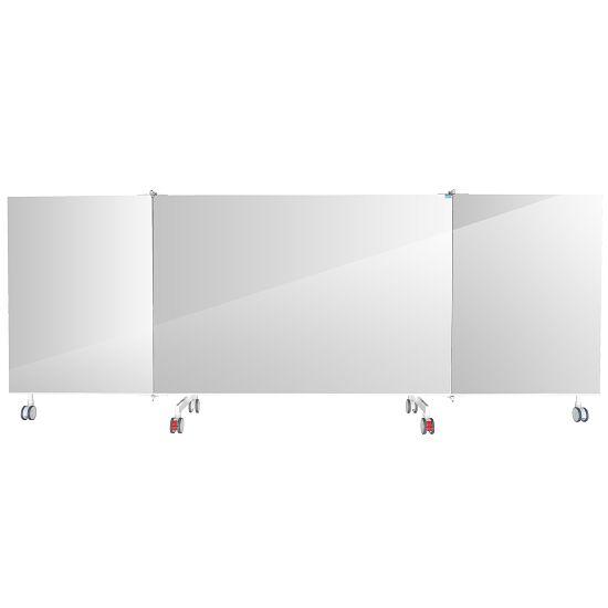 Mobiele kristallen spiegel 3-delig, scharnierend, 4,00x1,98 m (BxH)