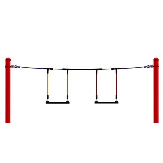 Modules de parcours, individuels (sans poteaux) Balançoires