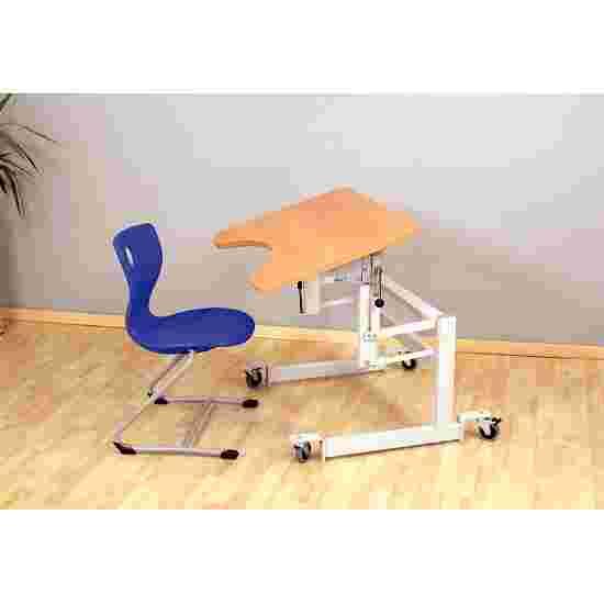 Möckel Table thérapeutique « ergo S 52 R » Roulettes blocables, Décor façon hêtre