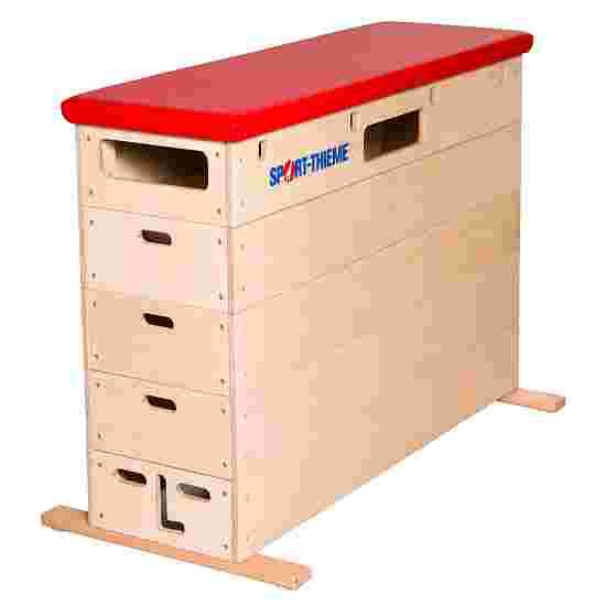 Plinth Sport-Thieme « Multiplex » 5 caissons Sans dispositif de transport sur roulettes, Simili cuir, rouge