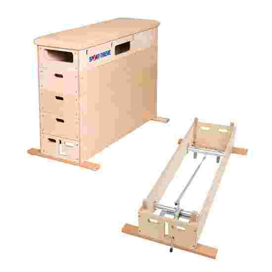 Plinth Sport-Thieme « Multiplex » 5 caissons Avec dispositif de transport sur roulettes, Cuir