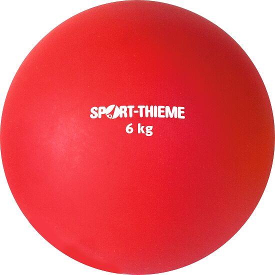 Poids en plastique Sport-Thieme® 6 kg, rouge, ø 140 mm