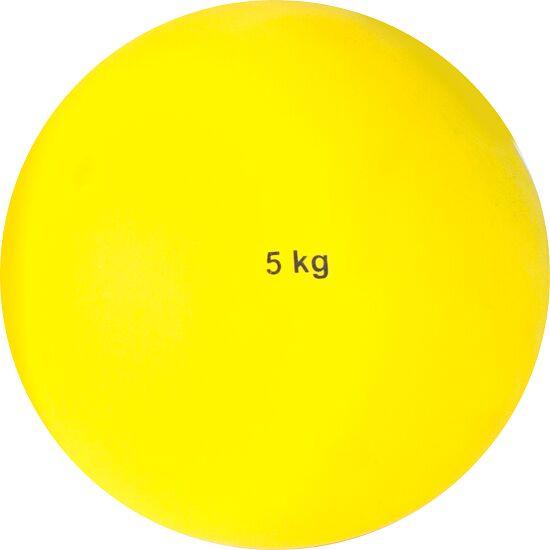 Poids Sport-Thieme en plastique 5 kg, jaune, ø 135 mm