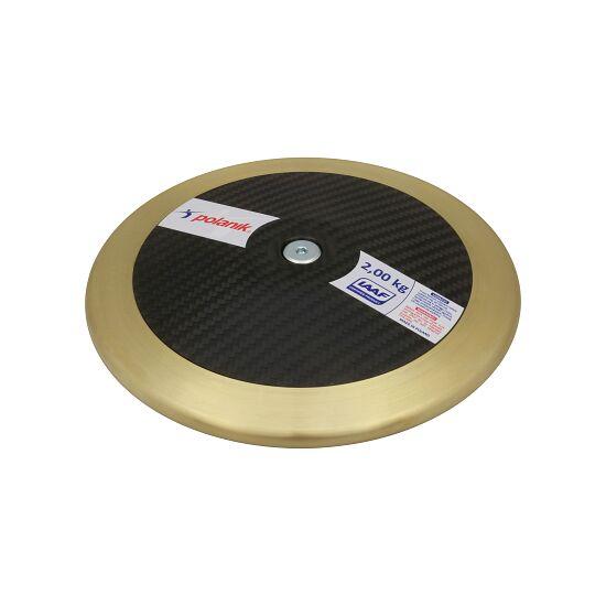 "Polanik Wedstrijd-Discus  ""CCD14 Carbon"" 2,00 kg, ø 220 mm"