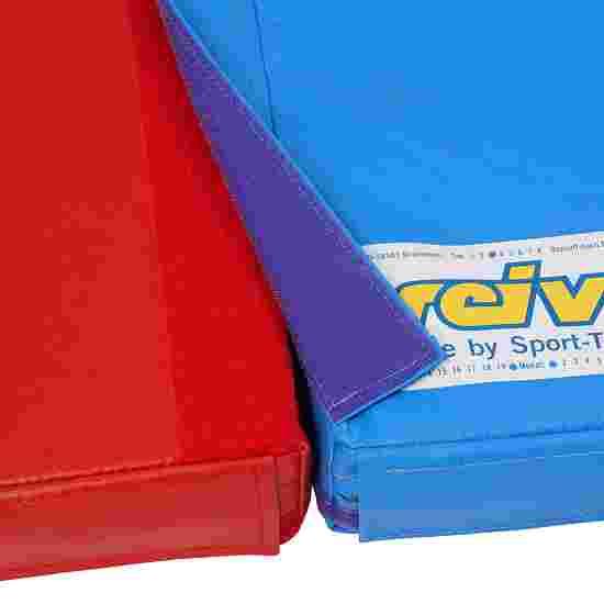 Reivo Tapis de gymnastique combinable « Sécurité » Polygrip bleu, 150x100x6 cm