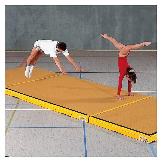 Reivo Tapis de réception Combi 300x200x12 cm, Jaune orangé