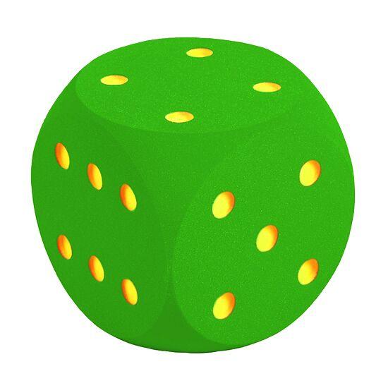 Reuze dobbelsteen uit schuimstof Groen, 30 cm