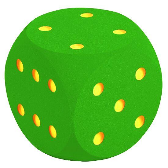Reuze dobbelsteen uit schuimstof Groen, 50 cm