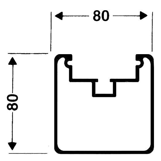 Roulettes de transport pour buts autostables Profilé carré 80/80 mm, Rainure de profil profonde