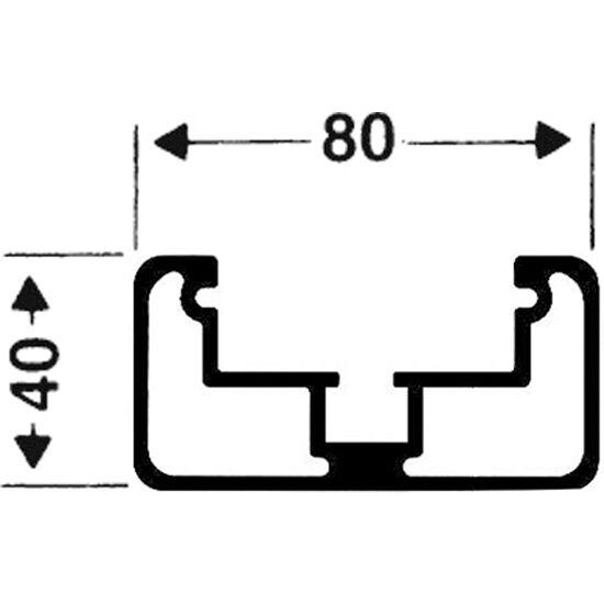 Roulettes de transport pour buts autostables Profilé rectangulaire 80x40 mm, Rainure de profil profonde