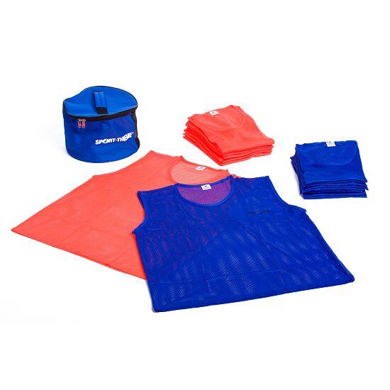 Set Team-Hesjes Volwassenen, oranje/blauw