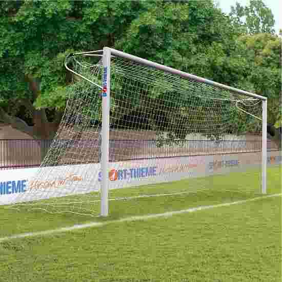 Sport-Thieme Aluminium voetbaldoelen, 7,32 x 2,44 m, hoeken gelast, staande in grondbussen Nethouder