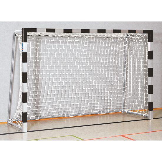 Sport-Thieme® But de handball en salle 3x2 m, avec fourreaux Angles d'assemblage vissés, Noir-argent